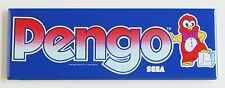 Pengo Marquee FRIDGE MAGNET (1.5 x 4.5 inches) arcade video game header penguin