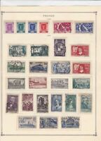 france 1936 - 1940  mounted mint and used stamps ref r8540
