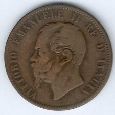 Italien Vittorio Emanuele II. 10 Centesimi 1866 N, ss