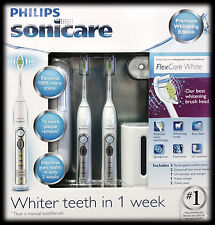 Philips Sonicare Flexcare Premium Edition 2 Pack Rechargeable Toothbrush UV New