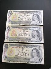 1973 $1 Bills From Canada (you're Getting 3 Of Them)