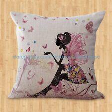 US SELLER- black beauty fairy flower cushion cover decorative throw pillow cover