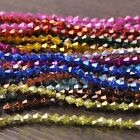 New Arrival 200pcs 4mm Faceted Bicone Loose Spacer Glass Beads Mixed Color