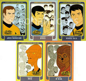 Star Trek The Complete Animated Adventures Enterprise Bridge Crew Card You Pick