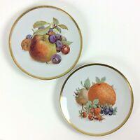 "SCHUMANN BAVARIA ARZBERG GERMANY Orchard Salad Dessert Plate 7 3/4"" Lot of 2"