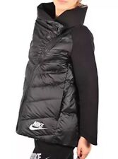 Nike Tech Fleece Aeroloft Cape Jacket 806397-010 Black Size S Girls 8-10 Yrs