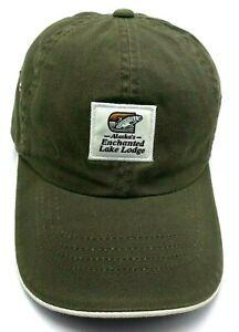 ENCHANTED LAKE LODGE (AK) green adjustable cap / hat - 100% cotton