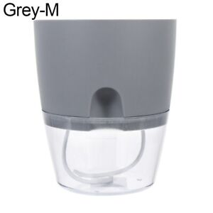 Round Self Watering Flower pot Auto Water Absorption Plant Pot Transparent