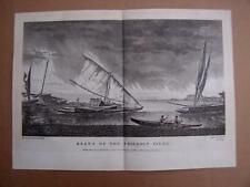 Captain Cook's Voyage  1772/75,  Boats Of The Friendly Isles