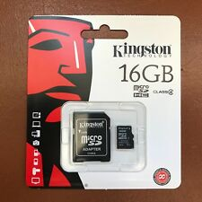 Kingston Micro Sd 16GB SDHC Memory Card Cellulare Classe 4 con Adattatore Sd