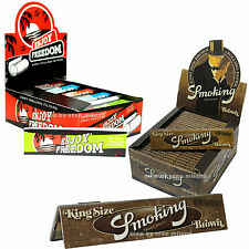 Cartine Smoking Lunghe Brown 50 pz  1 box + Filtri di carta Enjoy Freedom 50 Pz