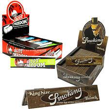 Cartine Smoking Lunghe Brown 50 pz  1 box + Filtri di carta Enjoy Freedom 50 Pz