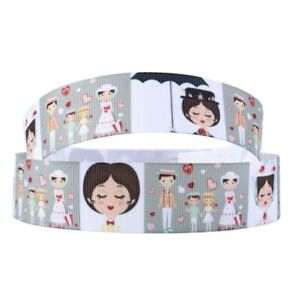 By the Yard 1 Inch Printed Mary Poppins Characters Grosgrain Ribbon.... Lisa