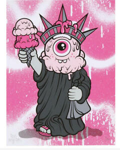 BUFF MONSTER STAY MELTY LIBERTY PRINT SIGNED NUMBERED XX/100 ORDER CONFIRMED ART