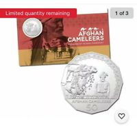 """2020 AUSTRALIAN 50 CENT ~ NEW UNC RAM CARDED """"AFGHAN CAMELEERS""""~ LIMITED MINTAGE"""