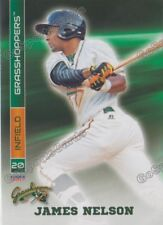 2017 Greensboro Grasshoppers James Nelson RC Rookie Miami Marlins