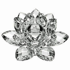 "3"" High Quality Clear Crystal Lotus Flower with Gift Box"