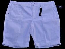 Gloria Vanderbilt womens 24W white bermuda shorts roll cuff new