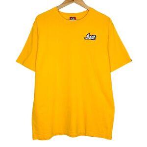 Vintage Lost Enterprises Logo Surf Skateboard Mens Yellow T Shirt Size L