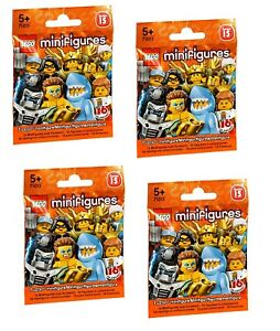 Lego MiniFigures series 15 Bundle 4X New Sealed Blind Bags Packs