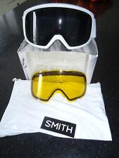 SMITH OPTICS RIOT GOGGLES WOMEN'S - WHITE ECLIPSE / BLACKOUT / BONUS LENS - $140