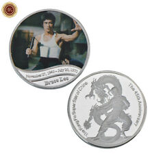 WR 45th Anniversary Of Bruce Lee Nunchucks Kung Fu Star Fine Silver Coin Gifts
