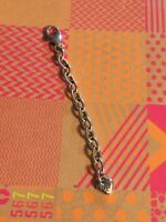 BRIGHTON SILVER Oval EXTENDER For Bracelet Or Necklace Sparkle Beautiful 3""