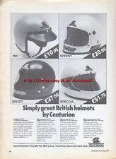 Centurion British Helmets 1979 Magazine Advert #734