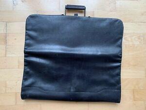 SLIMLINE Black Lightweight Black Leather Suit Carrier Dustbag Protector Bag