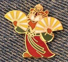 Seoul 1988 Olympic Pin~Mascot~Hodori the Tiger~Fan Dance~by HoHo NYC
