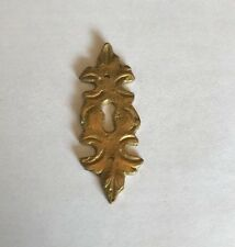 Vintage ~ Antique Brass Keyhole Vertical Plate Baroque Sand Cast