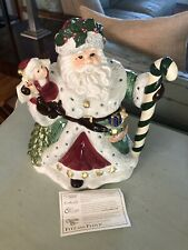 Vintage Fitz Floyd Christmas Teapot Santa 1994 52 Oz