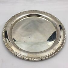 New listing Vintage Oneida Silverplate Round Serving Tray / Platter-10 Inches-Ornate Design