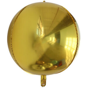 """22"""" 4D Round Sphere Foil Balloons Mylar Balloons Birthday Party Baby Christmas"""
