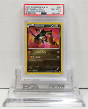 Pokemon DRAGONS EXALTED RAYQUAZA 128/124 SECRET RARE HOLO PSA 8.5 NM #*