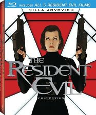 RESIDENT EVIL 1 2 3 4 5 BLU RAY COLLECTION 5 DISCS NEW/SEALED 1-5 MILLA JOVOVICH
