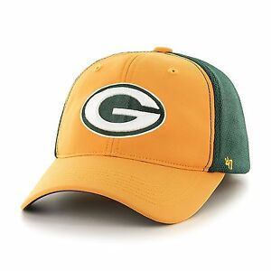Green Bay Packers NFL '47 Draft Day Closer Stretch Fit Hat, One Size, Gold
