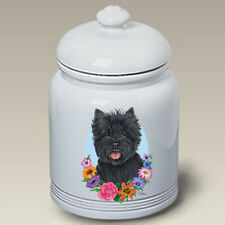 Black Cairn Terrier Ceramic Treat Jar Tp 47081