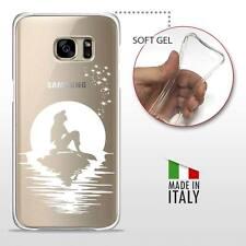 Samsung Galaxy S7 Edge CASE COVER PROTETTIVA GEL TRASPARENTE Disney Ariel White