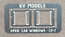 ETCHED DETAIL SET FOR ATHEARN CF-7 OPENED CAB WINDOW FRAMES HO SCALE KV MODELS