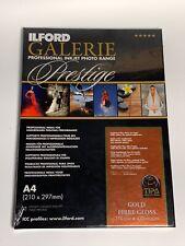Ilford Gold Fibre Gloss Galerie Prestige A4 - 5 Sheets
