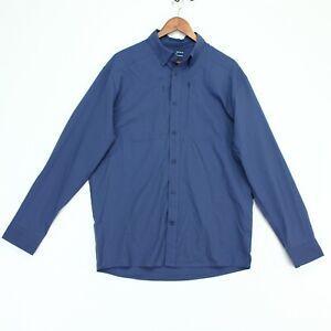 Under Armour Tide Chaser 2.0 Fishing Shirt Mens Medium Blue Roll Tab Sleeve