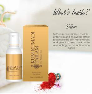 🇬🇧 25ml Pure Saffron Kesar Face oil KumKumadi Skin whiten Lighten Brightening