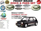 FOR RENAULT SUPER 5 1.4 1.5 HATCHBACK 85-95 FRONT BRAKE DISC SET + BRAKE PAD KIT