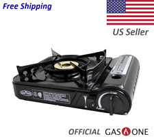 Portable Butane Camp Stove with 11,000 BTU with a Dual Spiral Flame Burner  *NEW
