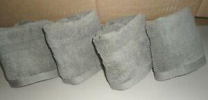 RALPH PALMER CADET GRAY (4PC) SET WASHCLOTHS FACE CLOTHS TOWELS 13 X 12