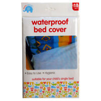 FITTED CHILD WATERPROOF SINGLE BED COVER SHEET COT WHITE MATTRESS PROTECTOR
