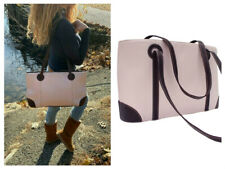 """Piel Leather """"The Leader In Naked Leather"""" Pink  Shopper  Tote  Laptop Handbag"""