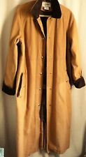 Women's Coat Size M LL Bean Gold Lined Barn Jacket Style Coat