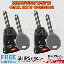 2 For 2008 2009 2010 2011 2012 2013 2014 Dodge Avenger 5b Remote Car Key Fob Set